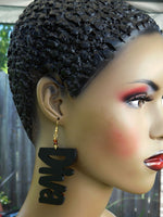 Diva Earrings Black Jewelry Ethnic Black Owned Business Gifts