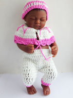Baby Girl Doll Realistic Pink & White Outfit