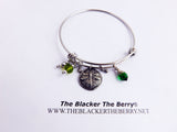 Dragonfly Bangle Silver Jewelry Bracelets Dangle
