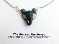 Elephant Necklace Jewelry Silver Chain