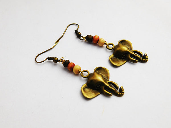 Elephant Earrings Beaded Ethnic Jewelry Gift Ideas for Her Christmas