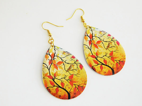 Fall Earrings Leaves Jewelry Gift Ideas for Her Nature