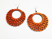 Wooden Earrings Ethnic Jewelry
