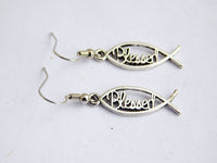 Blessed Earrings Christian Jewelry Silver