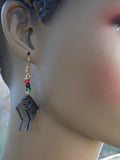 Fist Earrings Black RBG Pan African Jewelry Gift Ideas for Her Teen