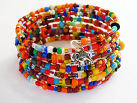 Colorful Beaded Bracelet Ghana Jewelry African Ethnic