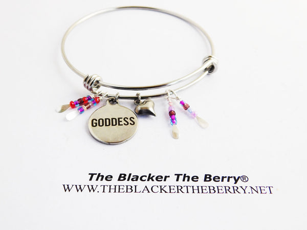 Goddess Bangles Stainless Steel Jewelry