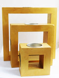 Candle Holders Gold Africa African Kwanzaa Gift Ideas Home Decor Wooden