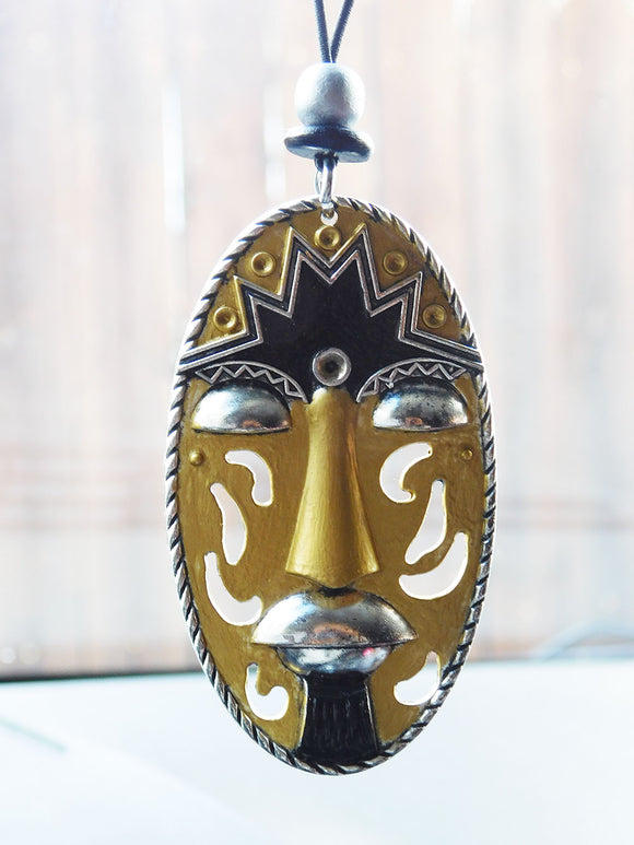Afrocentric Car Accessory Car Hanger Gold Silver Black Ethnic