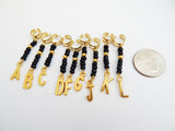 Personalized Hair Jewelry Gold Black Loc Hair Accessories Beaded Locs Twist Braids
