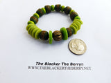 Green Bracelet Beaded Ethnic Jewelry African