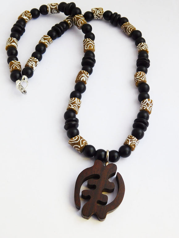 African Necklaces Men Jewelry Beaded Black Gift Ideas