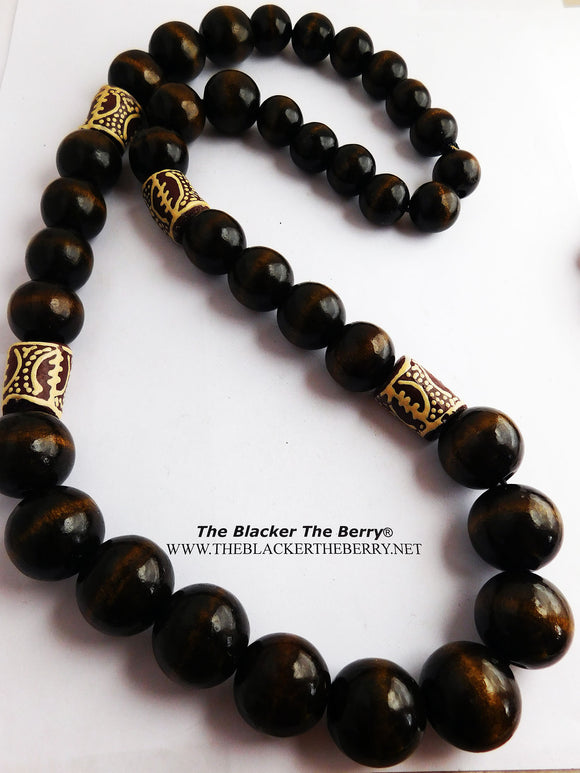 African Men Necklaces Men Large Beaded Gye Nyame