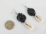 Gye Nyame Earrings Adinkra Jewelry Black White
