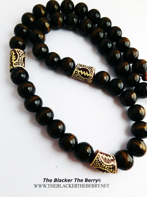 Gye Nyame Necklaces African Beaded Jewelry Men Women