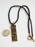 Gye Nyame Necklaces Men Women Jewelry Brass Beaded Ethnic Christmas