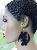 Gye Nyame Earrings African Jewelry Afrocentric Black