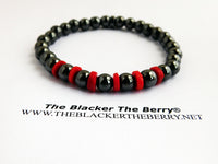 Hematite Bracelet Stretch Jewelry Beaded Red