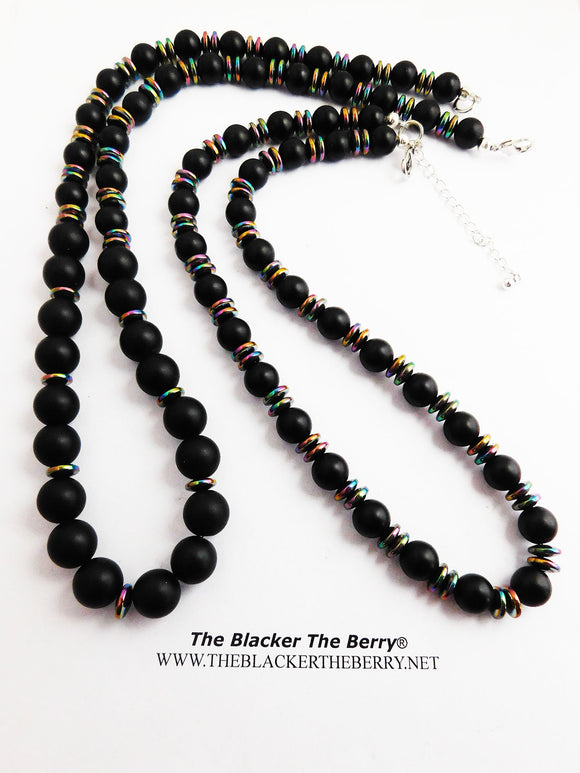 Black Beaded Necklaces His Her Jewelry Hematite