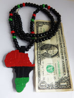 Africa Necklace African Jewelry RBG Red Black Green Beaded Necklace Mens Jewellery