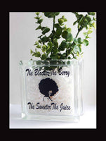 The Blacker the Berry the Sweeter The Juice Glass Block Decor Rocks Planter