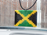 Jamaica Flag Car Charm Cute Car Accessories Jamaica Rear View Mirror Accessory