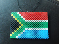 South African Flag Car Charm Cute Car Accessory African Rear View Mirror Charm refrigerator magnet