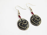 Infinity Love Earrings Pewter Beaded Gift Ideas for Her
