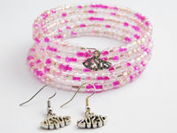 Jesus Jewelry Earrings Pink Bracelet Silver Gift Ideas for Her Teen