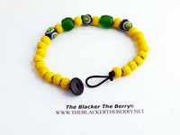 African Bracelet Yellow Beaded Jewelry