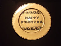 Decorative Kwanzaa Charger Plate Afrocentric Home Decor