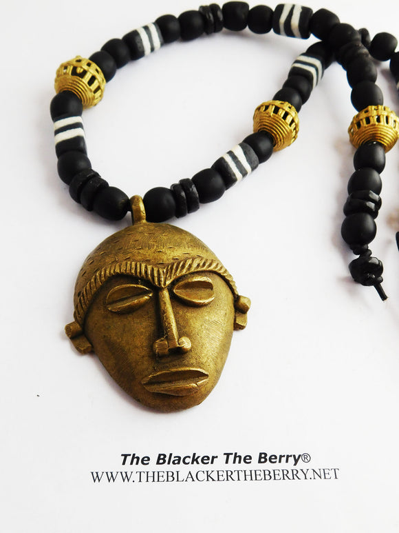 Large African Men Necklaces Black Jewelry Ethnic