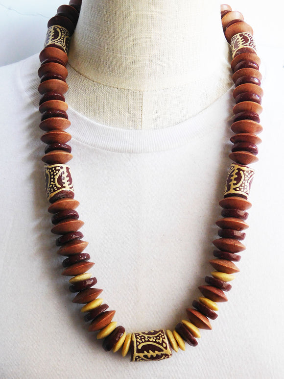 Large African Necklaces Gye Nyame Jewelry Men