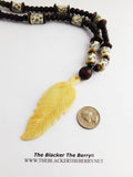 Leaf Necklace Tribal Beaded Ethnic Jewelry