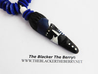 African Men Necklaces Handmade Blue White Black Beaded Jewelry