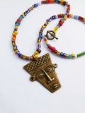 African Necklace Ghana Kenya Beads Ethnic Jewelry Gift Ideas Christmas