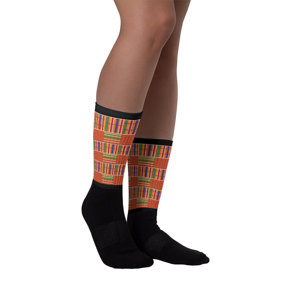 Kente Print Socks