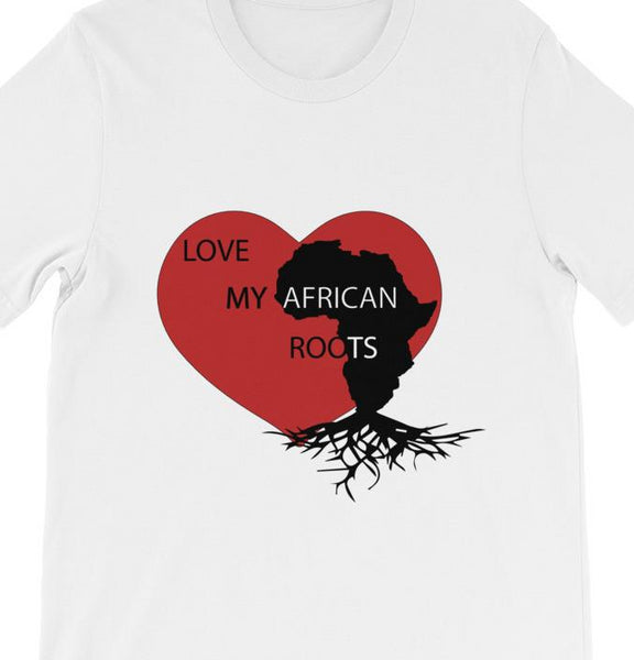 Men's short sleeve Love My African Roots t-shirt