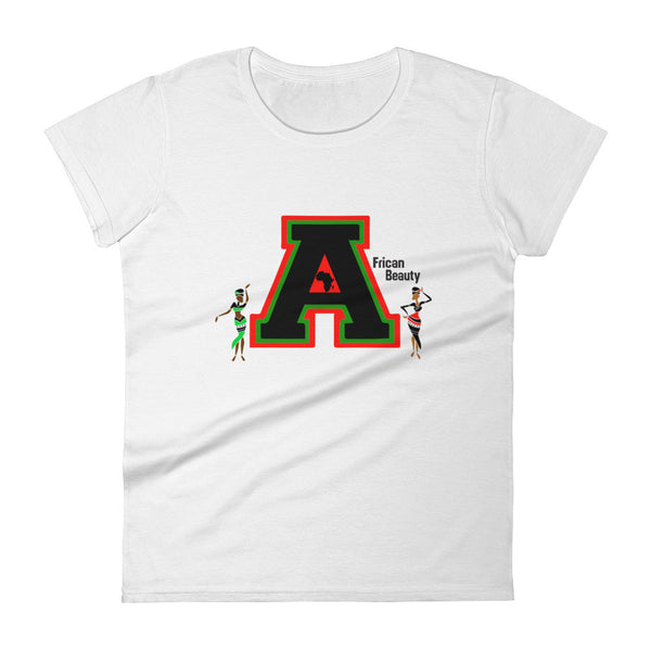 Women's short sleeve African Beauty Collegiate t-shirt