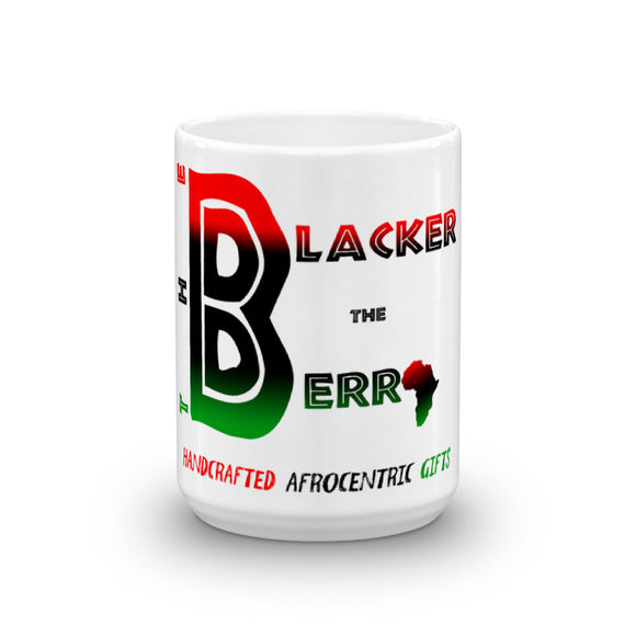 The Blacker the Berry Mug Home Decor Black Owned Business Pan African Red Black Green