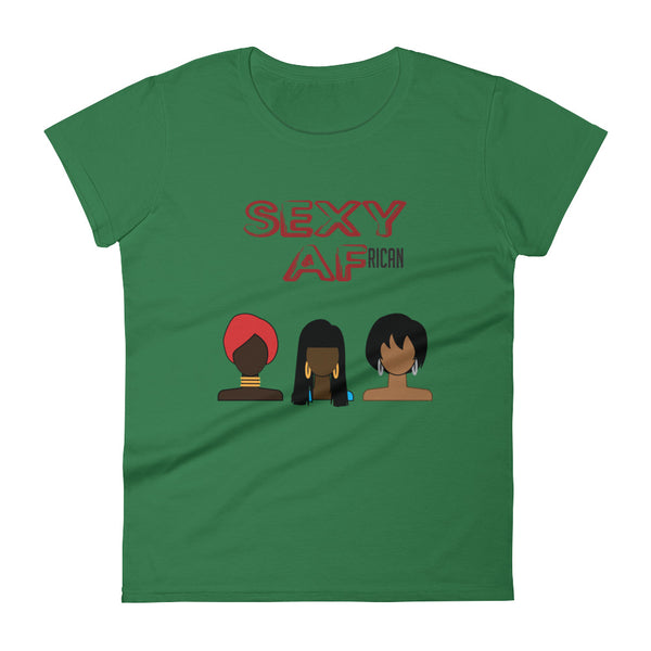 Sexy AF African Women's short sleeve t-shirt tee