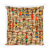 African Woman Square Pillow
