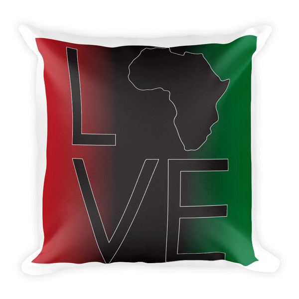 Square Africa Love Pillow