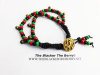 African Anklet Adinkra Jewelry RBG Pan African