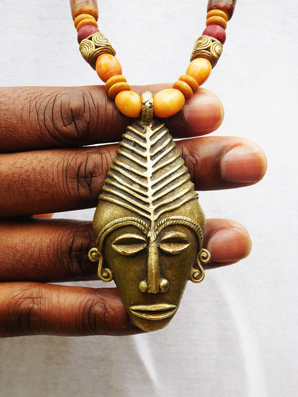 African Men Necklaces Brass Jewelry Beaded Gift Ideas for Him Christmas
