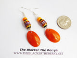 Ethnic Jewelry Orange Beaded Peruvian Jewelry Ecofriendly
