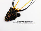 Panther Necklaces Beaded Fashion Jewelry Black Gold Women Cheetah