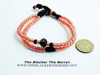 Pink Anklet Beaded Summer Jewelry Women