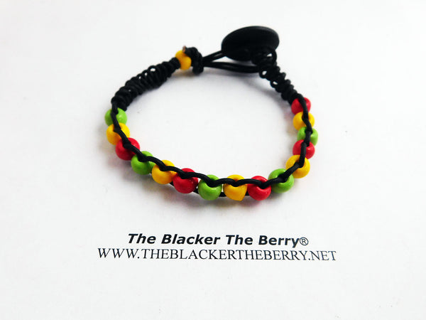 Rasta Anklet Beaded Leather Summer Jewelry