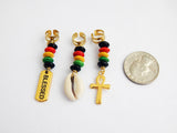 Loc Jewelry Hair Accessories Gold Beaded Rasta Ankh Cowrie Shell Blessed Gold Loc Jewelry for Women Beaded